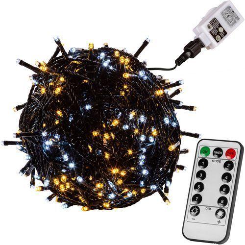 CIEPŁO ZIMNE LAMPKI CHOINKOWE 50 DIOD LED + PILOT - Zielony / Ciepło-Zimne / 50 LED (4048821770012)