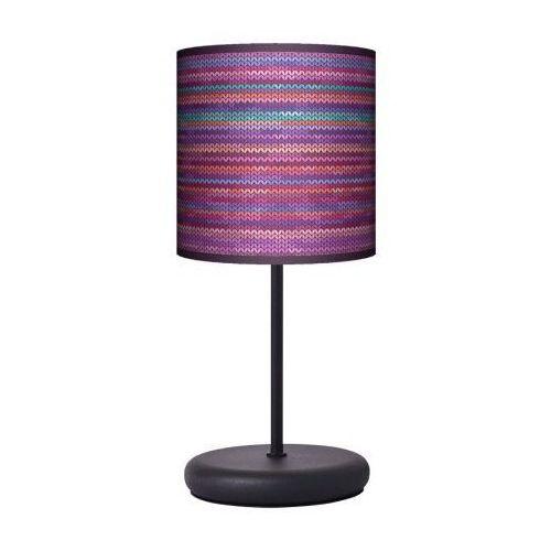 Lampa stojąca eko - rattan fiolet marki Fotolampy