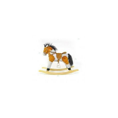 Milly-mally Koń na biegunach łatek jasny brąz #b1