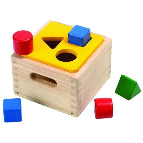 Skrzynia z figurami geometrycznymi marki Plan toys