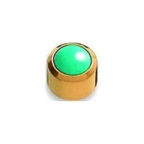 Kolczyk Turkus niebieski w oprawie pełnej kolor złoty+ R305y (5906717411519)