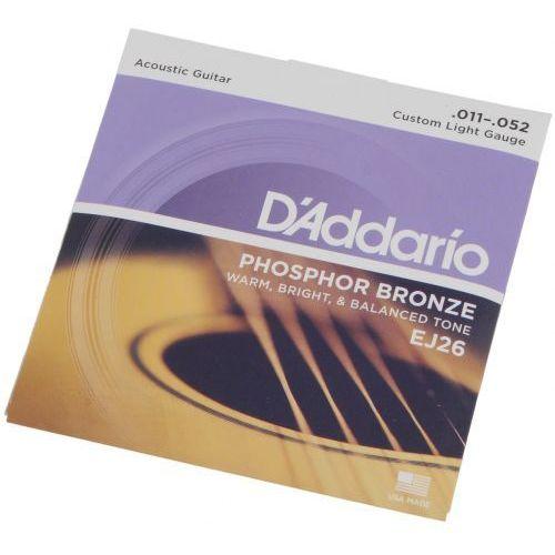 D′addario ej-26 struny do gitary akustycznej phosphor bronze 11-52