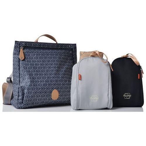Pacapod torba do wózka dla mamy 3w1 lewis ciemnoniebieska ze wzorem (5060177932554)