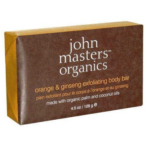 John masters  orange & ginseng body bar - mydło złuszczające z pomarańczą i żeń szeniem 128g
