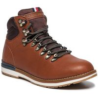 Trapery TOMMY HILFIGER - Outdoor Hiking Lace Leather Bott FM0FM02416 Brandy 601, w 6 rozmiarach