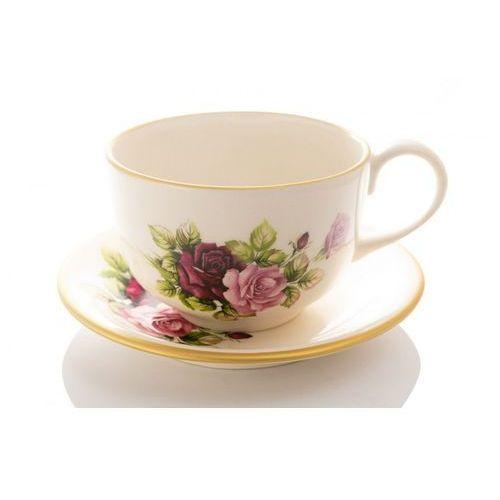 Mieroszów Duża filiżanka róża jumbo ceramika