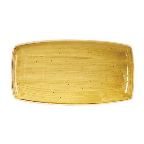Półmisek prostokątny 295 x 150 mm, żółty | CHURCHILL, Stonecast Mustard Seed
