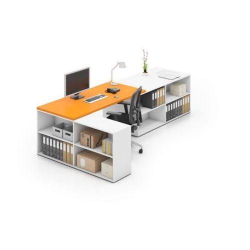 Blok b02, biały/pomarańczowy marki B2b partner