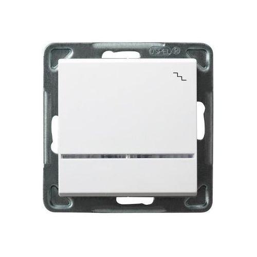 Łącznik schodowy z podświetleniem Biały - ŁP-3RS/m/00 Sonata (5907577444204)