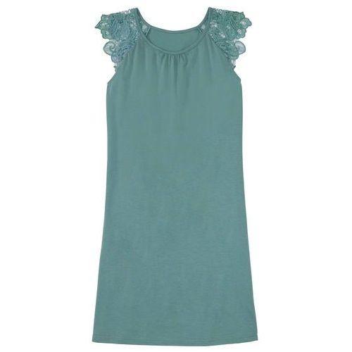 Koszula nocna, bawełna organiczna bonprix niebieski mineralny, bawełna