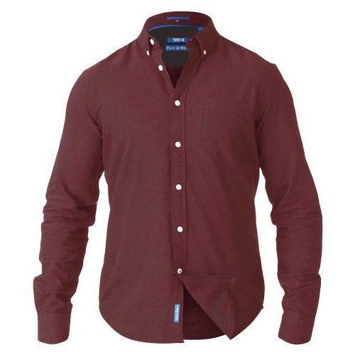 D555 Alastair Duża Koszula Męska Bordowa, kolor czerwony