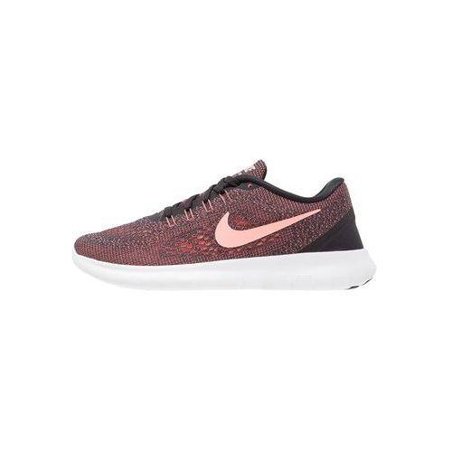 Nike Performance FREE RUN Obuwie do biegania neutralne black/lava glow/offwhite
