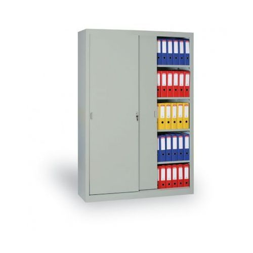 Metalowa szafa z przesuwnymi drzwiami, 1990x1000x450 mm, jasnoszary