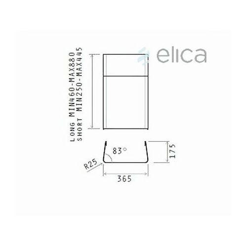 Komin krótki ELICA KIT0010701 - Specjalistyczny sklep - 28 dni na zwrot - Raty 0%