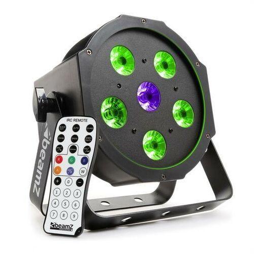 OKAZJA - bfp110 projektor flatpar led 3-w-1 5x 6 w rgb-led dmx pilot na podczerwień marki Beamz