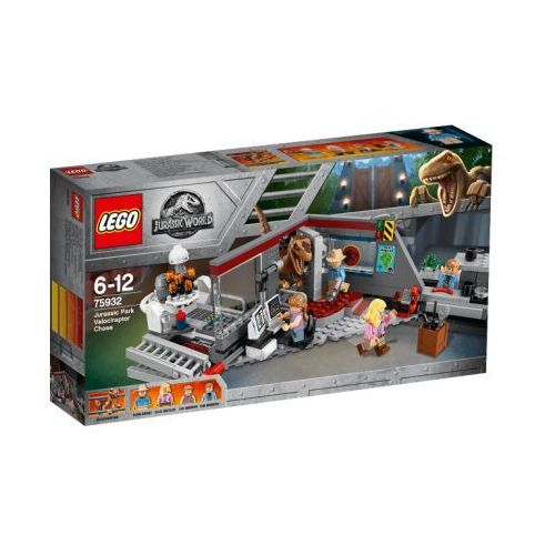 75932 POŚCIG RAPTORÓW (Jurassic Park Velocitaptor chase) - KLOCKI LEGO JURASSIC WORLD