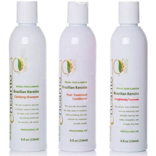 Encanto do brasil keratyna do prostowania włosów zestaw 3x236ml (10974301)