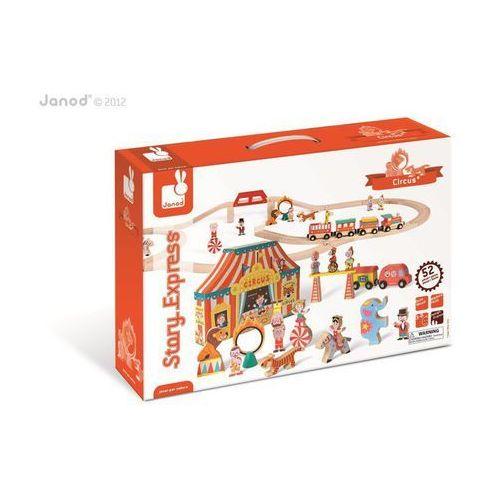 Janod  - cyrk kolejka drewniana zestaw 52 części (3700217385217)