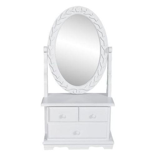 toaletka z mdf z obrotowym, owalnym lustrem marki Vidaxl