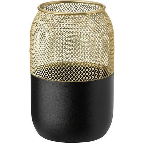 Stelton Collar świecznik na tealight l, czarno-złoty -