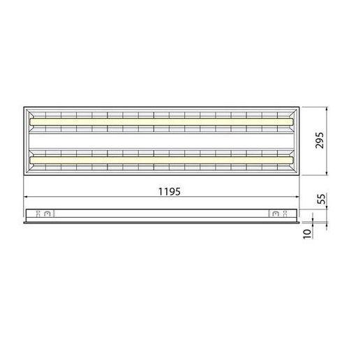 Oprawa rastrowa natynkowa 120cm 2x świetlówka led 36w 4000k 18976593 marki Lumixa