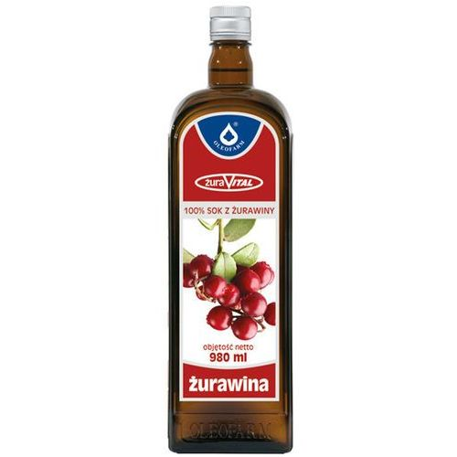 Płyn Żurawina 100% sok z owoców żurawin płyn - 980 ml