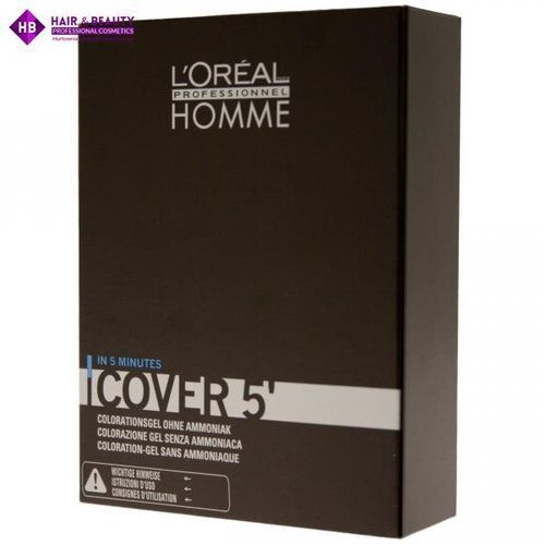 L'Oréal Professionnel Homme Color farba do włosów 3 szt. odcień 4 Medium Brown (Color Gel Ammoniak-free) 3x50 ml (3474634006474)