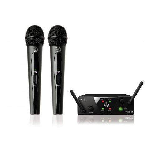 AKG WMS40 mini dual Vocal Set US45 A/C mikrofon bezprzewodowy podwójny (660.700 i 662.300)