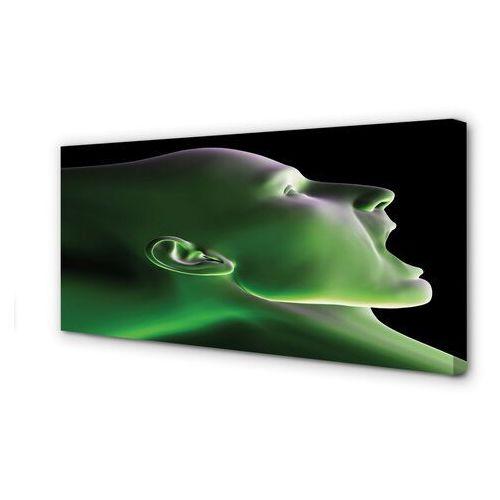 Tulup.pl Obrazy na płótnie głowa człowieka zielone światło