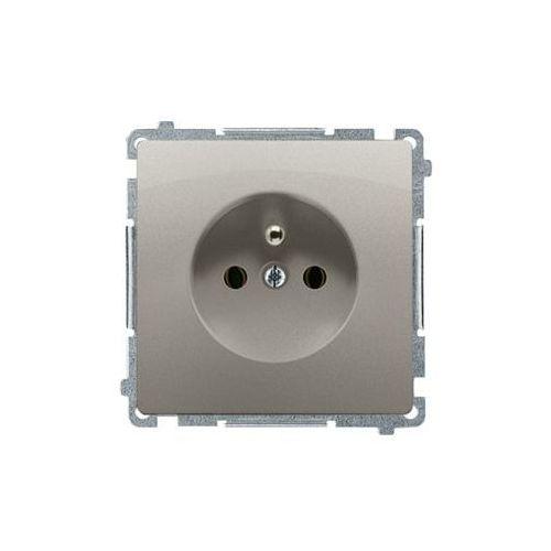 Kontakt simon Kontakt-simon basic moduł gniazdo wtyczkowe z uziemieniem (moduł); satyna (met.) bmgz1.01/29 (5902787812539)
