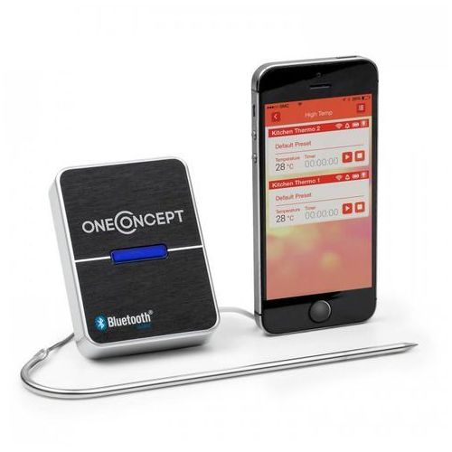 OneConcept Meatmaster Bluetooth 4.0 Termometr do pieczenia Termometr grillowy (4260395864267)