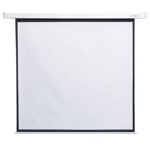 elektryczny ścienny/sufitowy ekran projekcyjny z przełącznikiem 178x178 (1:1) matt white darmowa dostawa do 400 salonów !! marki 4world
