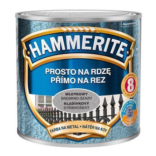 Farba Prosto Na Rdzę - Efekt Młotkowy Srebrno-Szary 0,25L Hammerite, 5093588