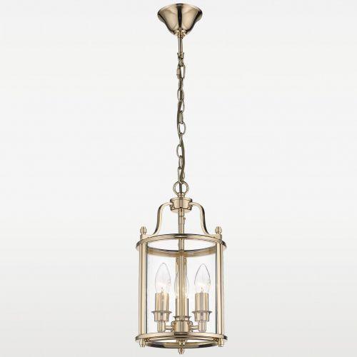 LAMPA wisząca EVO P03875AU loftowa OPRAWA szklany ZWIS na łańcuchu złoty przezroczysty, EVO P03875AU