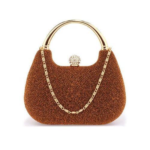 Wielka brytania Ruda brokatowa torebka wizytowa z rączką - rudy