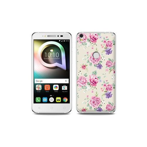 Alcatel Shine Lite - etui na telefon Fantastic Case - pastelowe różyczki