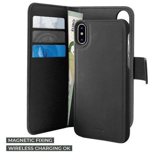 Puro Wallet Detachable Etui 2W1 iPhone Xs Max (Czarny), kolor czarny