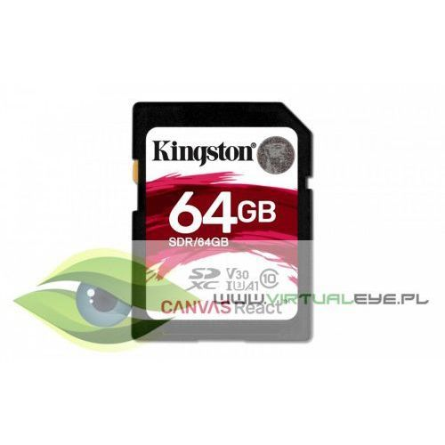 Kingston SD 64GB Canvas React 100/80MB/s U3 UHS-I V30 A1