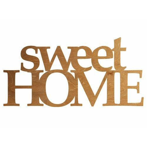 Congee.pl Dekoracja drewniana napis na ścianę sweet home - 4 mm (5907509935305)
