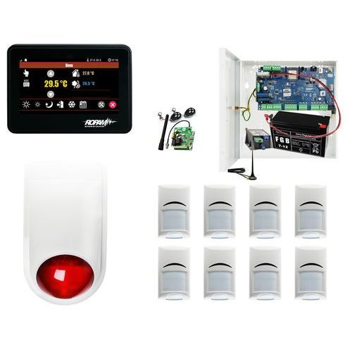 Alarm System Ropam NeoGSM-IP-PS + 8xBosch+ TPR-4B + Sygnalizator