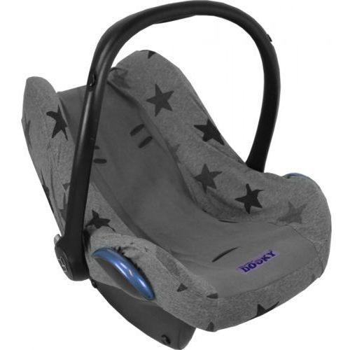 Pokrowiec do fotelika Dooky Seat Cover Grey Stars (5038278000601)
