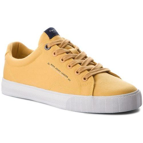 Tenisówki PEPE JEANS - New North Basic PMS30420 Ochre Yellow 097, kolor żółty