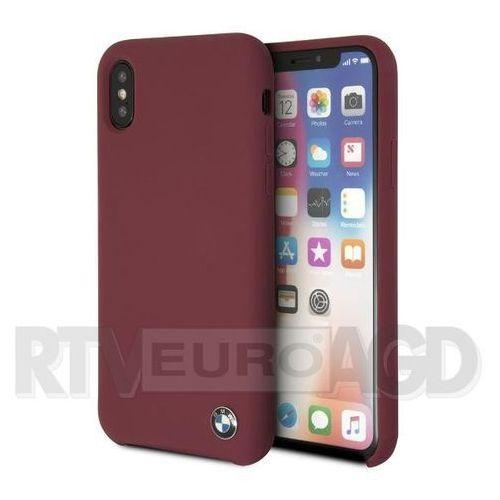 BMW Etui hardcase BMHCPXSILRE iPhone X czerwony Silicone (3700740409039)