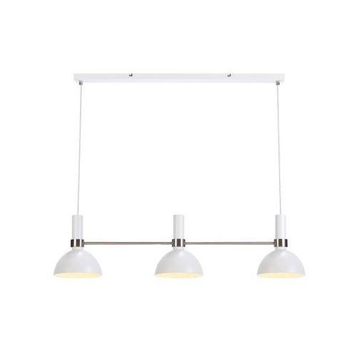Markslojd Lampa wisząca larry 107500 metalowa oprawa minimalistyczny zwis stal biała