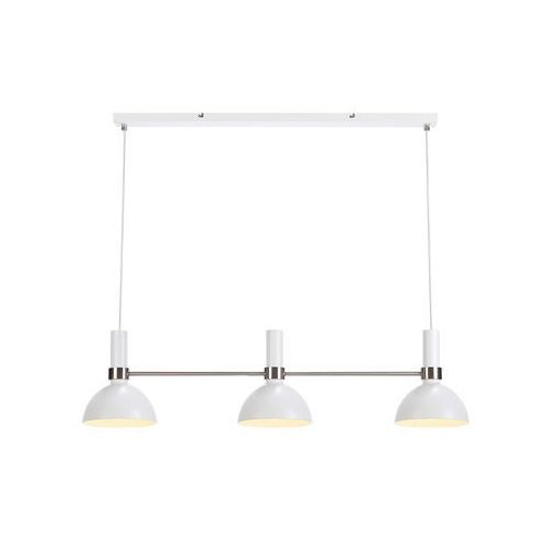 Markslojd Lampa wisząca larry 107500 metalowa oprawa minimalistyczny zwis stal biała (7330024579644)