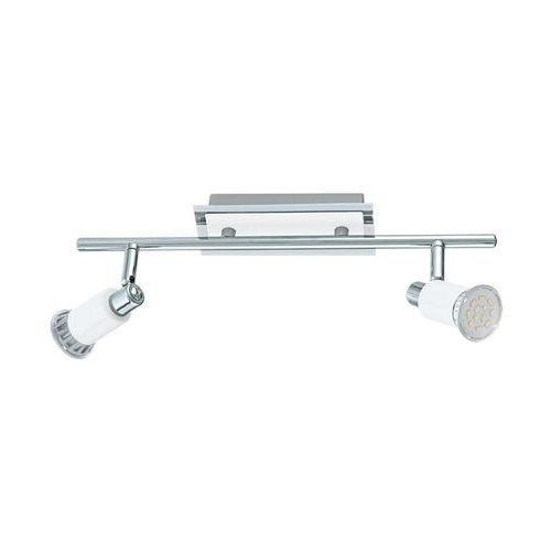 Eglo Listwa eridan 90833 lampa sufitowa plafon spot 2x3w gu10 chrom/biały (9002759908331)