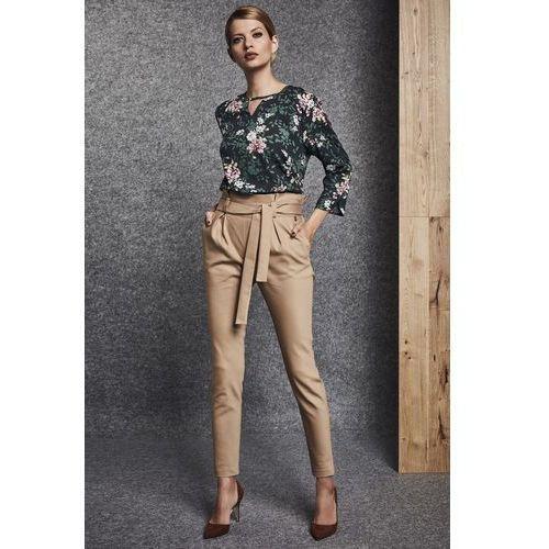 Ennywear Beżowe spodnie materiałowe -