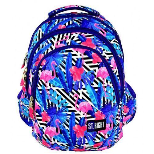 Plecak młodzieżowy flamingi pink&blue bp-06 st.right marki St.-majewski