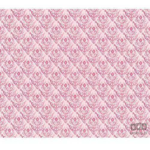 Fototapeta tradycyjne kwiatowe wzory – czerwone na różowym tle 1459 marki Consalnet