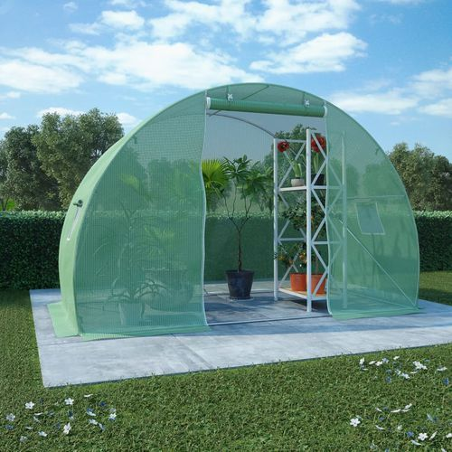 VidaXL Szklarnia ogrodowa ze stalową konstrukcją, 4,5m², 300x150x200cm (8718475723387)